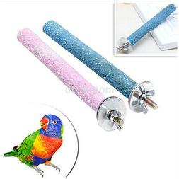 Bird Cage Perches Stand Platform Chew Toy Paw Grinding Clean