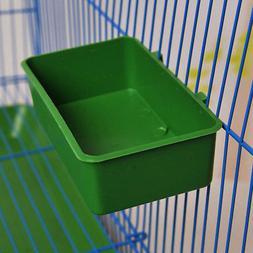 Bird Cage Plastic Feed Cup Seed Water Dispenser Bird Food Bo