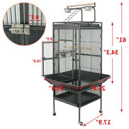 "61"" Large Bird Cage Top Play Non-Toxic Power Coated Steel Be"