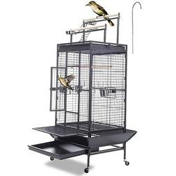 Bird Cage Play Top Strong Iron Ladder Parrot Cockatoo Parake