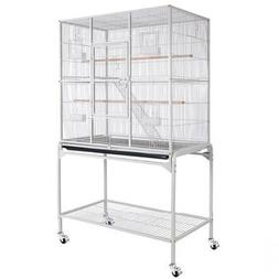 Bird Cage with Stand - White Vein Rectangle Double-deck 30x1