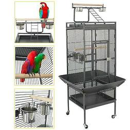 "SUPER DEAL PRO 53""/61""/68"" Large Bird Cage with Play Top & R"