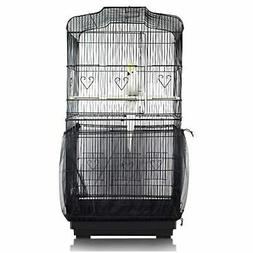 Mesh Pet Bird Cage Seed Catcher Tidy Guard Cover Shell Skirt