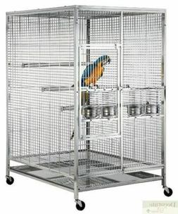 """BIRD CAGE Stainless Steel Indoor Outdoor Parrot Macaw 60""""x48"""