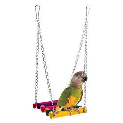 Bird Cage Swing Hammock Hanging Toy  Accessories Parrot Para
