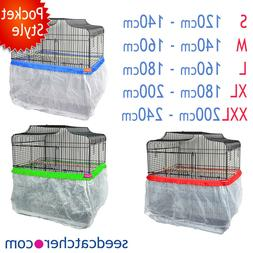 Bird Cage Tidy, Cage Seed Catcher Guard Pile Fabric Pocket S