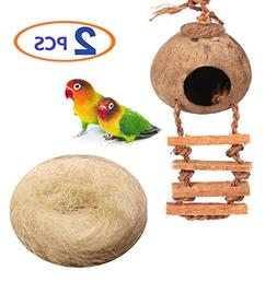 Hamiledyi Bird cage Natural Cage Toy for Pet Bird Natural Co