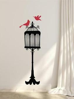 Bird Cage Vinyl Wall Decal Sticker Home Decor