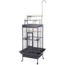 Giantex Bird Cage w/ Ladder Play Top Strong Iron Parrot Cock