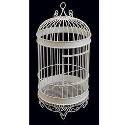 Firefly Imports Bird Cage Wedding Centerpiece, White