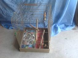 BIRD CAGE WITH ACCESSORIES IN EXCELLENT CONDITION