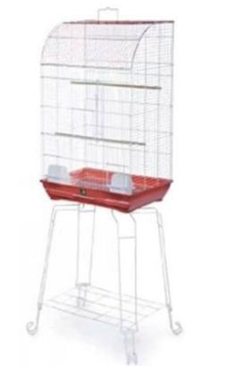 Bird cage with Stand Prevue Pet Products Curved Front Red #2