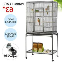 Bird Cage With Stand Parakeet Finch Canary Cockatiel Lovebir