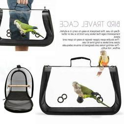 Bird Carrier Cage Mesh Bag Pet Parrot Travel Breathable Clea