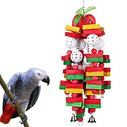 KINTOR Bird Chewing Toy Large Medium Parrot Cage Bite Toys A