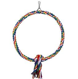 Bird Cotton Rope Perch Bungee Chew toyBird cage Swing Climbi