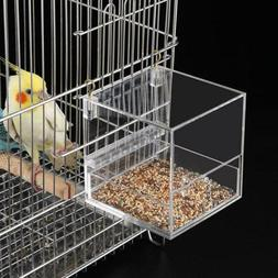 Bird Feeder Dual-use No Mess Automatic Seed Feeder Cage Parr