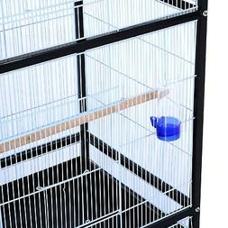 Pawhut 54H Bird Flight Cage Stand - Black/White