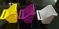 3PCS BIRD FOOD WATER FEEDER HANGING BOWL CUP WITH HOLDER FOR