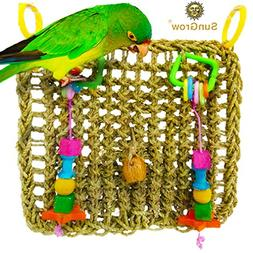 Bird Foraging Wall Toy with Hanging Hook - Seagrass Woven Ma