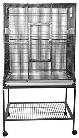 "32""x21"" Flight Cage & Stand Metal"