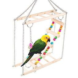 Bird Ladder Parrot Toys Cage - Pet Swing Ladder, Double Pet