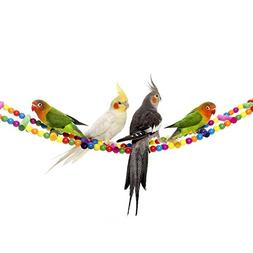 Bird Ladder Toys Swing Parrot Cage Toys for Cockatiel Conure