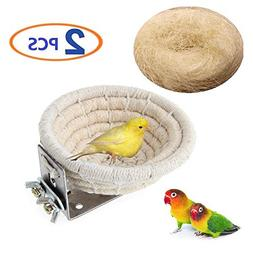 Bird Nest Handmade Cotton Weave Hemp Rope Nests Birds Breedi