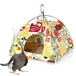 KINTOR Bird Nest House Bed, Parrot Habitat Cave Hanging Tent