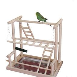 QBLEEV Bird's Nest Bird Perches Play Stand Gym Parrot Playgr