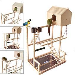QBLEEV Bird's Nest Stand Parrot Playground Playgym Playpen P