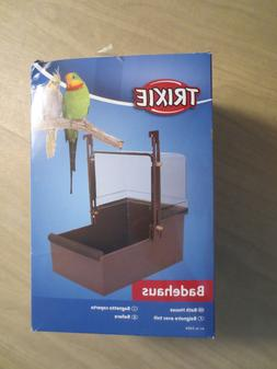 14 × 15 × 15 Cm Bird Bathtub Bath Clean Box Toy For Budgies Canary Cage Trixie Bird Supplies