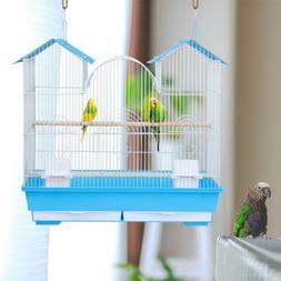 Bird Parrot Budgie Parakeet Cage Portable Travel Hanging Cag