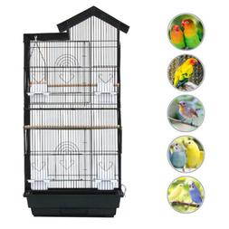 Bird Parrot Cage Canary Parakeet Cockatiel with Wood Perches