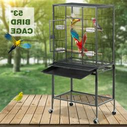 "53"" Large Bird Parrot Pet Cage Chinchilla Cockatiel Conure H"