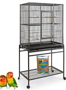 "Large New Bird Parrot Cage Cockatiel Conure 32""x19""x64"" Wrou"