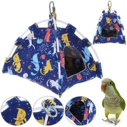 Bird Parrot Hammock Cage Snuggle Happy Hut Tent Hideaway Bed
