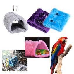 Bird Parrot Hanging Plush Snuggle Hammock with Buckle Tent B