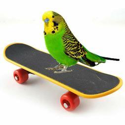 Bird Parrot Intelligence Toy Mini Training Skateboard For Pa
