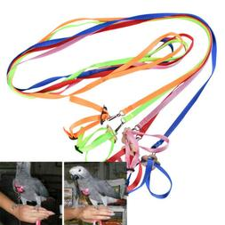 Bird Parrot Leash Adjustable Harness Outdoor Training Rope A