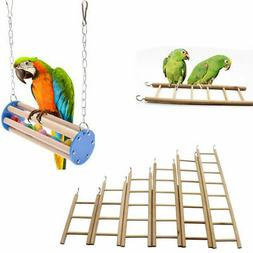 Bird Parrot Toy Swing Ladder Stair Chewing Playground Gym Ma