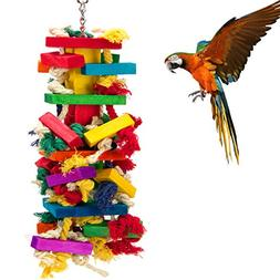 MEWTOGO Extra Large Bird Parrot Toys for Cockatoos African G