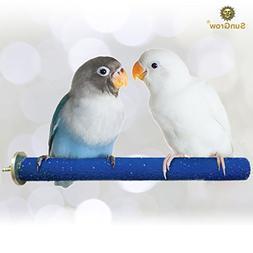 Wooden Bird Perch - Naturally Keeps Pet Bird Nails Trim & Be