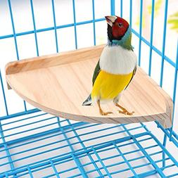 Mrli Pet Bird Perch Platform Stand Wood for Small Animals Pa