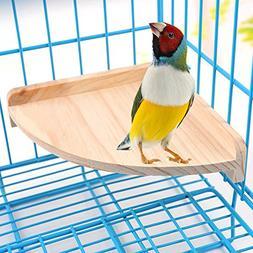 Mrli Pet Bird Perch Platform Stand Wood for Small Animals Pa