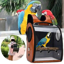 Bird Pet Parrot Backpack Carrier ravel Space Capsule Transpa