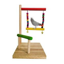 Bird Playground Birdcage Wood Toy Parrot Play Swing Parakeet