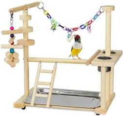 Olpchee Bird Playground Parrot Playstand Bird Play Stand Woo