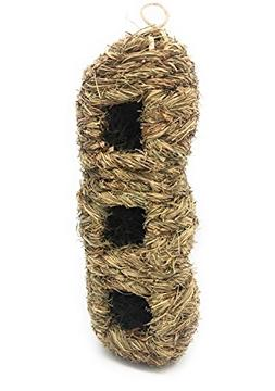 Small Bird Roosting Condo/Birdhouse, Handwoven Grass, Three