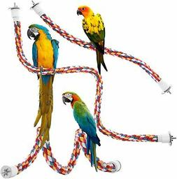 Jusney Bird Rope Perches, Comfy Perch Parrot Toys for Rope B